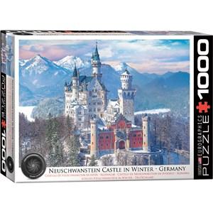 """Eurographics (6000-5419) - """"Neuschwanstein Castle in Winter"""" - 1000 pieces puzzle"""