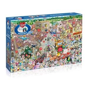 """Gibsons (G7095) - Mike Jupp: """"I Love Weddings"""" - 1000 pieces puzzle"""