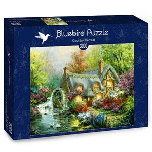 """Bluebird Puzzle (70063) - Nicky Boehme: """"Country Retreat"""" - 3000 pieces puzzle"""