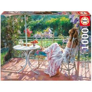 """Educa (16747) - Vicente Romero: """"Among Wisterias"""" - 1000 pieces puzzle"""