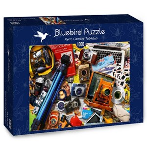 "Bluebird Puzzle (70240) - ""Retro Camera Tabletop"" - 1000 pieces puzzle"