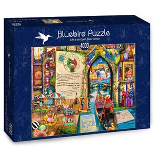 """Bluebird Puzzle (70259) - Aimee Stewart: """"Life is an Open Book Venice"""" - 4000 pieces puzzle"""