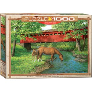 """Eurographics (6000-0834) - Persis Clayton Weirs: """"Sweet Water Bridge"""" - 1000 pieces puzzle"""