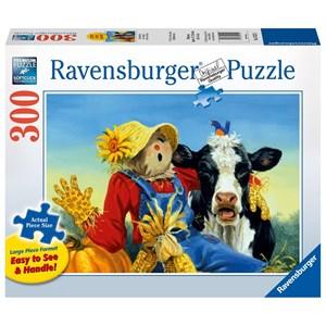 "Ravensburger (13222) - Linda Picken: ""Barnyard Duet"" - 300 pieces puzzle"