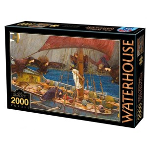 """D-Toys (72917-WA01) - John William Waterhouse: """"Ulysses and the Sirens, 1891"""" - 2000 pieces puzzle"""