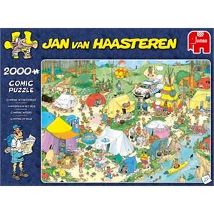 "Jumbo (19087) - Jan van Haasteren: ""Camping in the Forest"" - 2000 pieces puzzle"