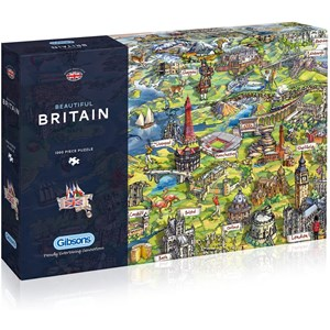 "Gibsons (G7080) - Maria Rabinsky: ""Beautiful Britain"" - 1000 pieces puzzle"