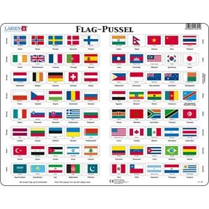 """Larsen (L2-DK) - """"Flag - DK"""" - 80 pieces puzzle"""