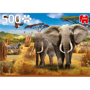 "Jumbo (18802) - ""African Savannah"" - 500 pieces puzzle"