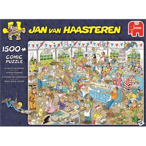 "Jumbo (19077) - Jan van Haasteren: ""Clash of the Bakers"" - 1500 pieces puzzle"