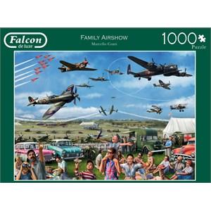 """Falcon (11195) - Marcello Corti: """"Family Airshow"""" - 1000 pieces puzzle"""