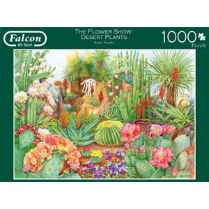 """Falcon (11254) - Anne Searle: """"The Flower Show, Desert Plants"""" - 1000 pieces puzzle"""