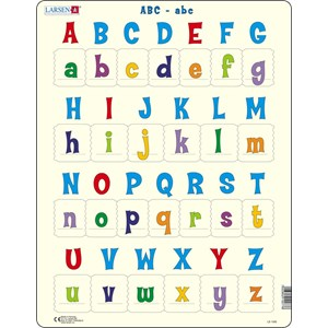 """Larsen (LS1426) - """"All the upper and lower case letter"""" - 26 pieces puzzle"""