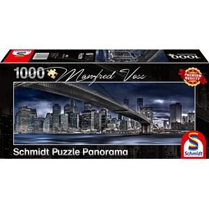 """Schmidt Spiele (59621) - Manfred Voss: """"New York, Dark Night"""" - 1000 pieces puzzle"""