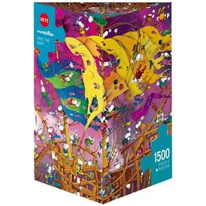 "Heye (29924) - Guillermo Mordillo: ""Save The Ship"" - 1500 pieces puzzle"