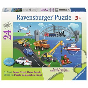 """Ravensburger (05561) - """"A Day On The Job"""" - 24 pieces puzzle"""