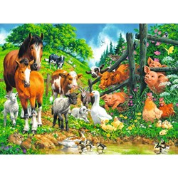 "Ravensburger (10689) - ""Animal Get Together"" - 100 pieces puzzle"