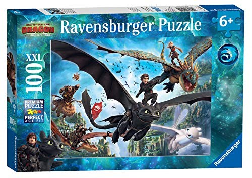 """Ravensburger (10955) - """"How to Train Your Dragon 3"""" - 100 pieces puzzle"""