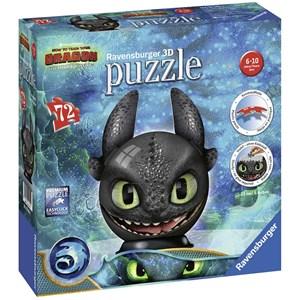 """Ravensburger (11145) - """"DreamWorks, Dragon"""" - 72 pieces puzzle"""