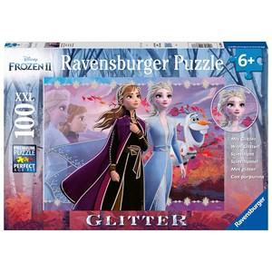 "Ravensburger (12868) - ""Disney Frozen 2, Strong Sisters"" - 100 pieces puzzle"