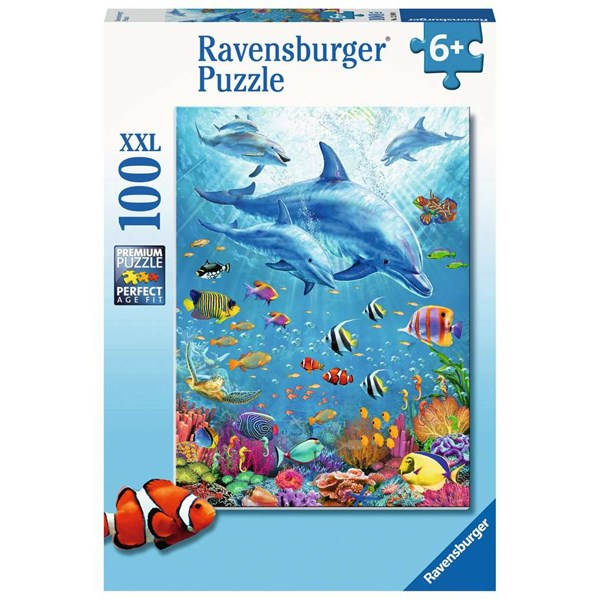 """Ravensburger (12889) - """"Pod of Dolphins"""" - 100 pieces puzzle"""