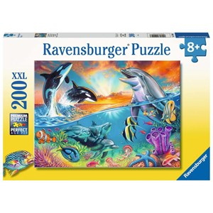"""Ravensburger (12900) - """"Ocean Dwellers"""" - 200 pieces puzzle"""