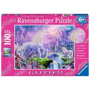 "Ravensburger (12907) - ""Unicorn Kingdom"" - 100 pieces puzzle"
