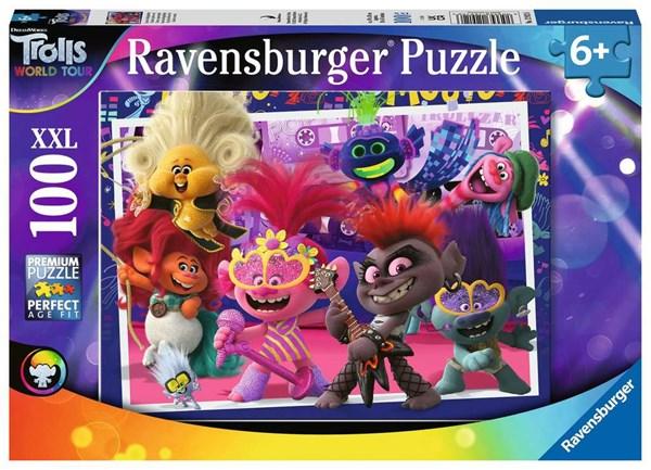 """Ravensburger (12912) - """"Trolls 2, World Tour"""" - 100 pieces puzzle"""
