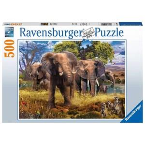 """Ravensburger (15040) - """"Elephants"""" - 500 pieces puzzle"""