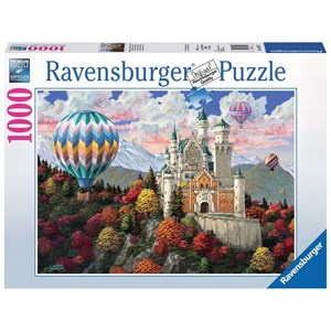 """Ravensburger (19857) - """"Neuschwanstein Daydream"""" - 1000 pieces puzzle"""