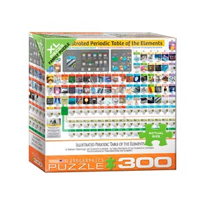 "Eurographics (8300-5370) - ""Illustrated Periodic Table of the Elements"" - 300 pieces puzzle"