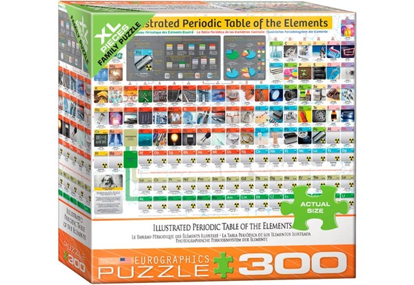 """Eurographics (8300-5370) - """"Illustrated Periodic Table of the Elements"""" - 300 pieces puzzle"""