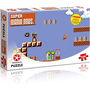 """Winning Moves Games (WIN11484) - """"Super Mario Bros., High Jumper"""" - 500 pieces puzzle"""