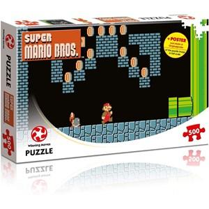 """Winning Moves Games (WIN11491) - """"Super Mario Bros., Underground Adventures"""" - 500 pieces puzzle"""