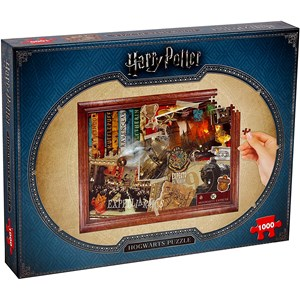"Winning Moves Games (2466) - ""Harry Potter, Hogwarts"" - 1000 pieces puzzle"