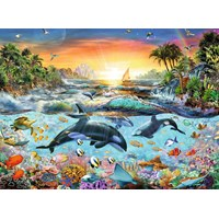 "Ravensburger (12804) - Adrian Chesterman: ""Orca Paradise"" - 200 pieces puzzle"