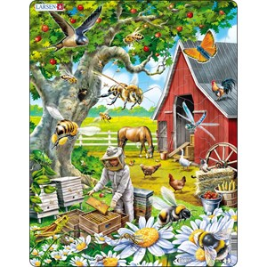 """Larsen (US39) - """"Busy Bees and the Beekeeper"""" - 53 pieces puzzle"""