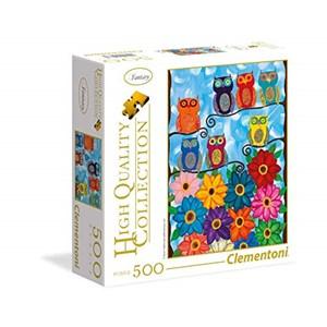"""Clementoni (95978) - """"Cute Little Owls"""" - 500 pieces puzzle"""