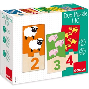 """Jumbo (D53329) - """"Numbers 1-10"""" - 20 pieces puzzle"""