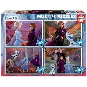 "Educa (18640) - ""Frozen 2"" - 50 80 100 150 pieces puzzle"