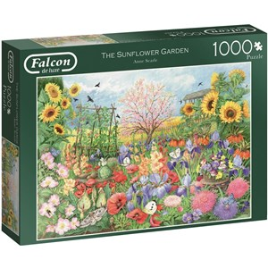 "Falcon (11224) - Anne Searle: ""The Sunflower Garden"" - 1000 pieces puzzle"