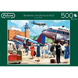 "Falcon (11258) - Kevin Walsh: ""Boarding The Douglas DC3"" - 500 pieces puzzle"