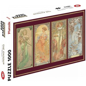 "Piatnik (5576) - Alphonse Mucha: ""The seasons"" - 1000 pieces puzzle"