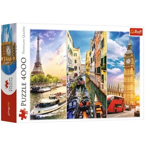 "Trefl (45009) - ""A Journey through Europe"" - 4000 pieces puzzle"