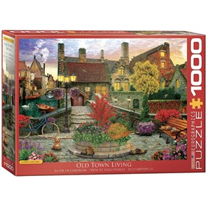 "Eurographics (6000-5531) - David McLean: ""Old Town Living"" - 1000 pieces puzzle"