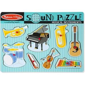 "Melissa and Doug (10732) - ""Musical Instruments, Sound Puzzle"" - 7 pieces puzzle"