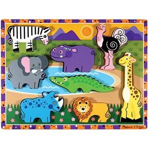 "Melissa and Doug (13722) - ""Safari"" - 8 pieces puzzle"