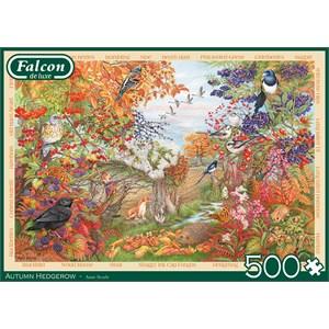 "Falcon (11270) - Anne Searle: ""Autumn Hedgerow"" - 500 pieces puzzle"