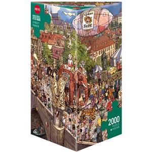 """Heye (29926) - Doro Göbel: """"Street Parade"""" - 2000 pieces puzzle"""