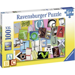 "Ravensburger (10761) - ""Funny alphabet"" - 100 pieces puzzle"